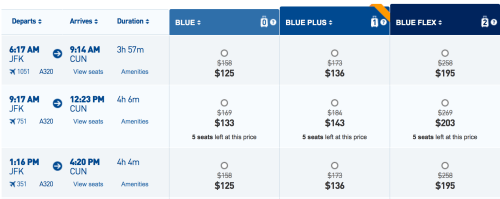 Fly from New York to Cancun for ~$120 one-way