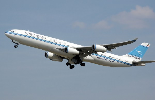 Kuwait Airways A340-300. Photo by Adrian Pingstone, used with permission.