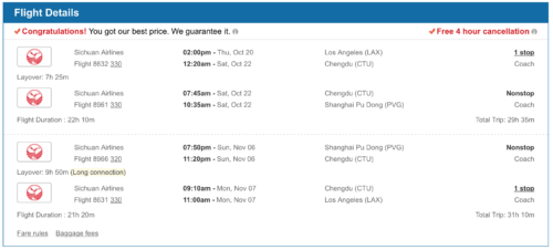 Fly from Los Angeles to Shanghai for less than $333