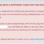 Plastiq may be coding payments as cash advances for new payees