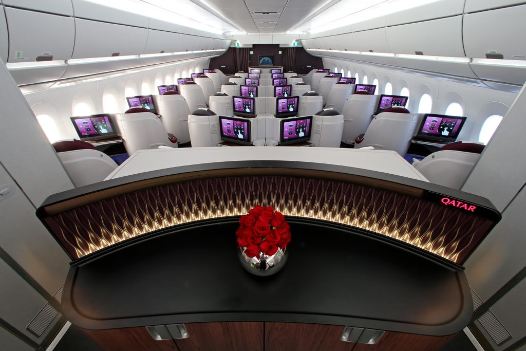 Qatar Airways Business Class A350. Qatar Airways/Flickr