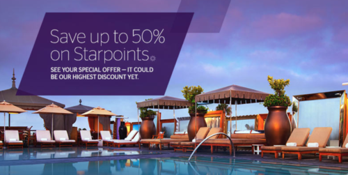 Buy SPG points for up to 50% off with this new offer