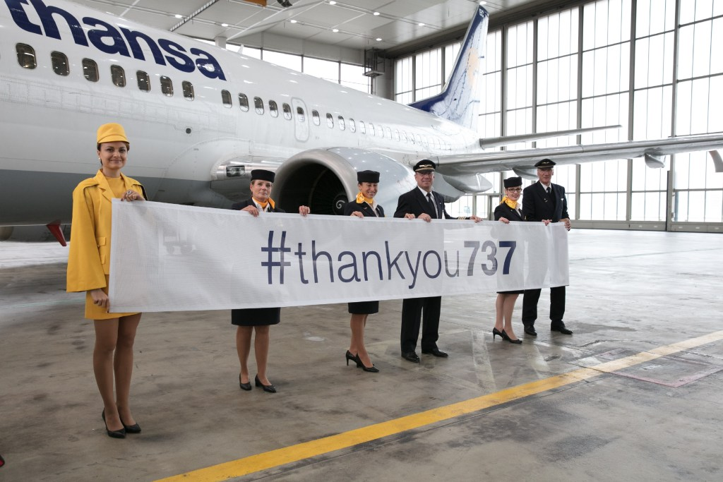 The Lufthansa 737 retirement flight. Oliver Roesler Oro/Lufthansa