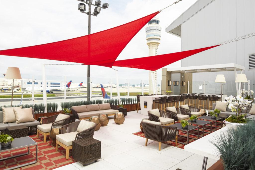 The Sky Deck at the Delta Sky Club in Atlanta. Source: Delta