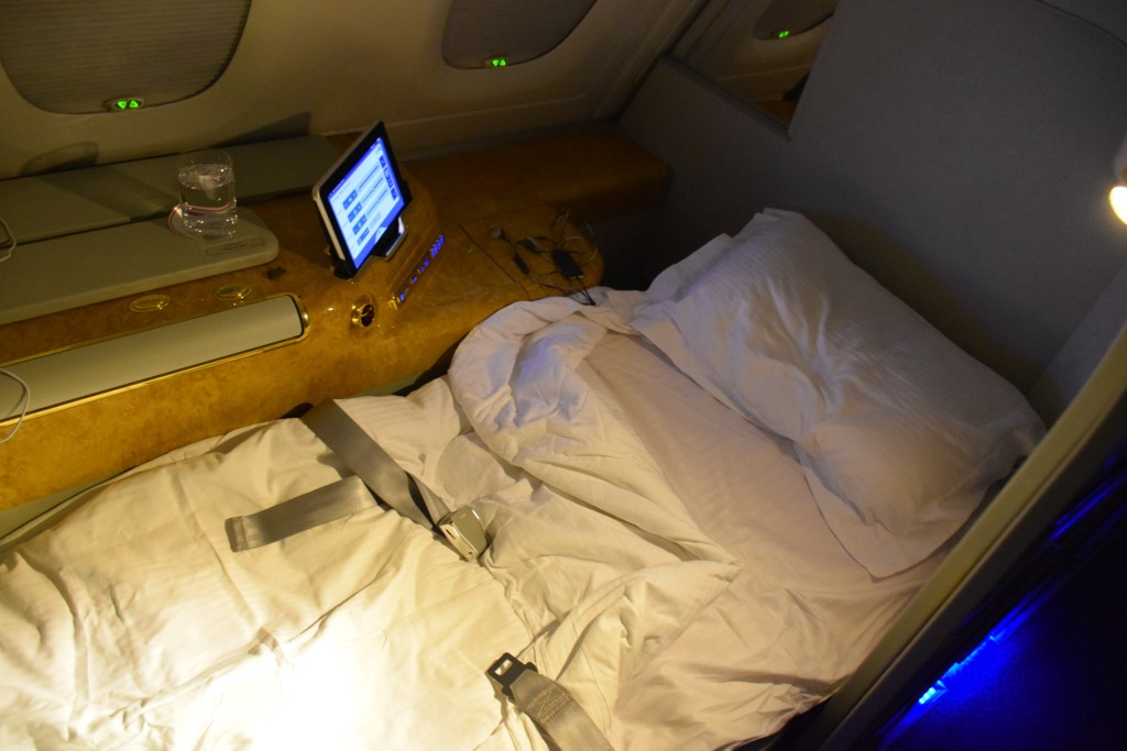 Emirates A380 First Class Bed