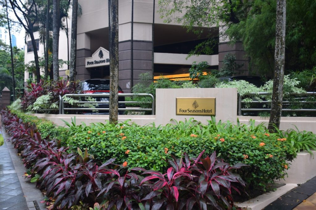 Four Seasons Singapore Entrance