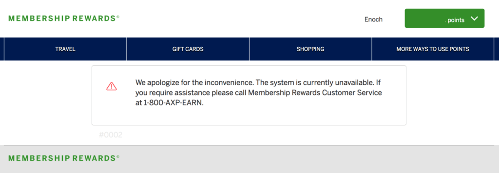 American Express Membership Rewards is currenly unable to transfer points to Virgin Atlantic online