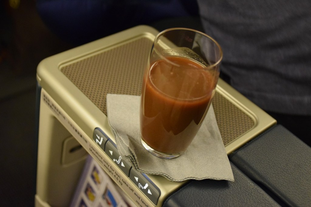 Cathay Pacific Regional Business Class Pre-Departure Drink