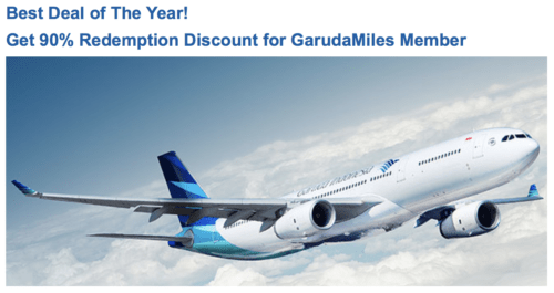 Get a 10% discount when you redeem Garuda Indonesia miles for award tickets through the end of 2016.