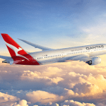 Qantas 787 Dreamliner with the new livery. Source: Qantas