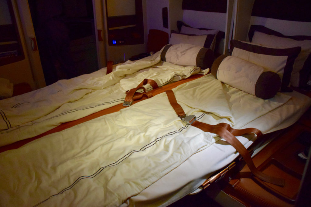 Singapore Suites onboard the A380. Photo by the author.