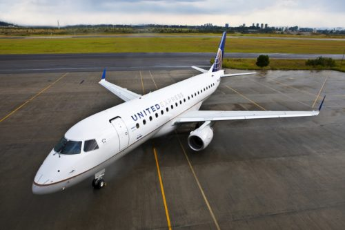 United's Embraer E175 Aircraft. Source: United Airlines chairman's flight
