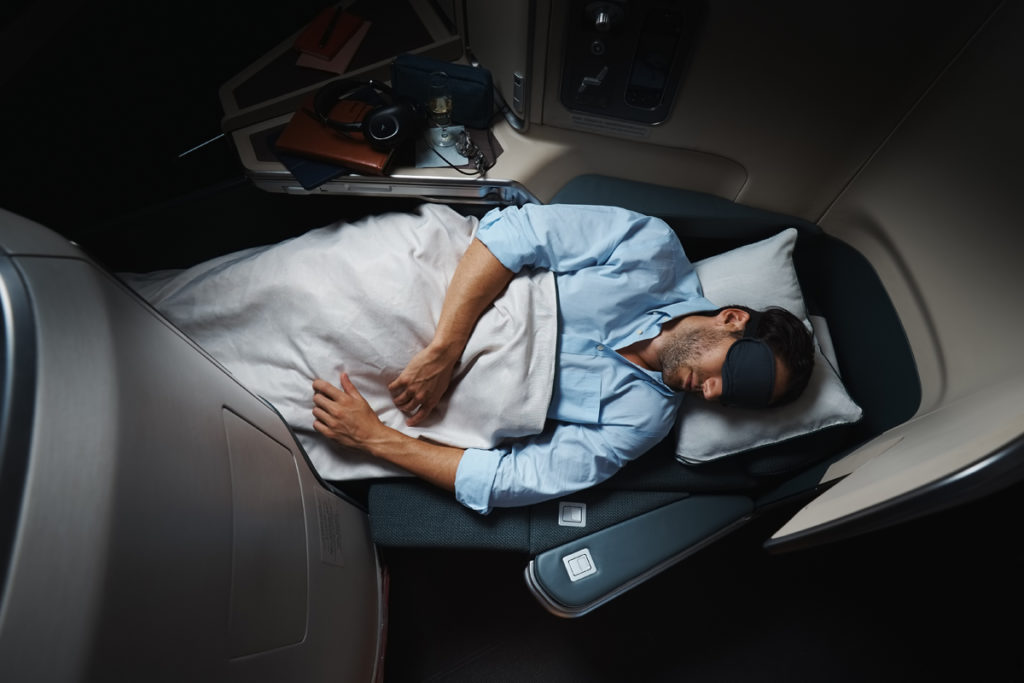 Cathay Pacific Business Class onboard the A350. Source: Cathay Pacific