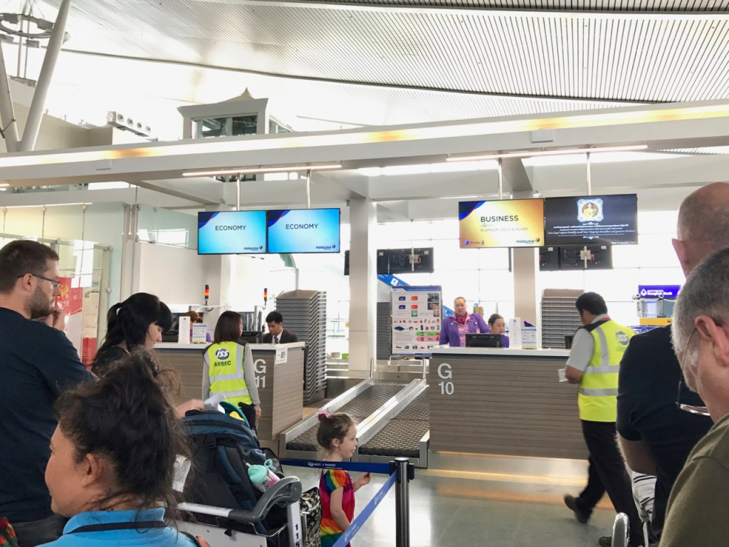 Malaysia Airlines Check-in Counter at Phuket Airport (HKT)
