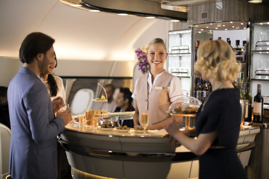 Emirates A380 Onboard Bar Refresh. Source: Emirates