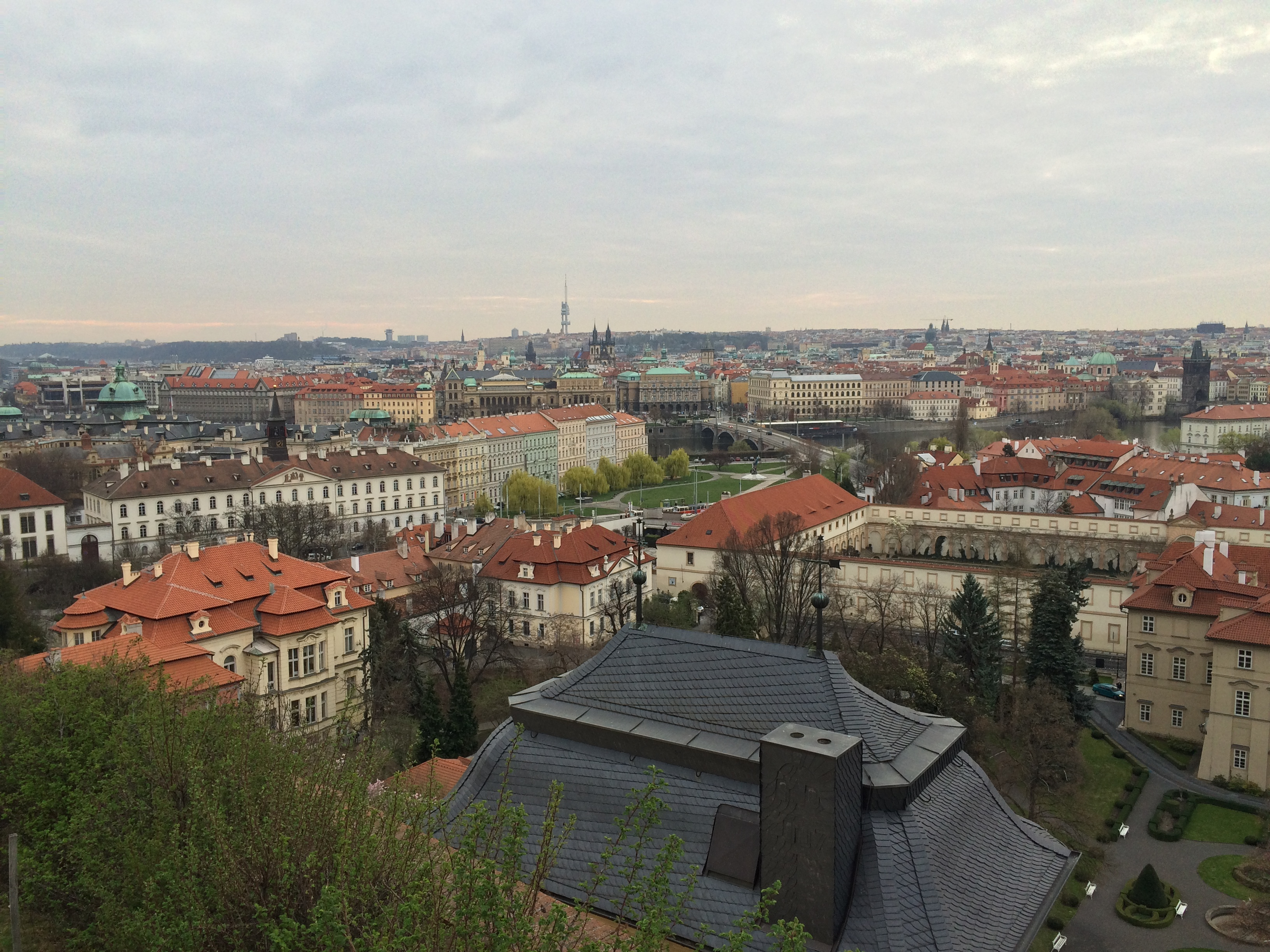 Eastern Prague, as seen from the hills around Prague Castle