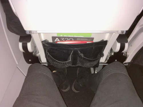 I had no problem with legroom in seat 18A.