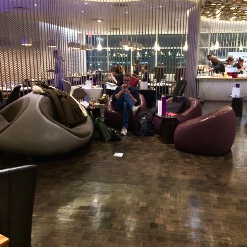 Virgin Atlantic Clubhouse JFK seating