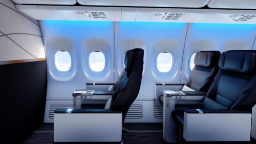 Alaska's new first class seats will be somewhere between Virgin's plush recliners and Alaska's current squeeze.