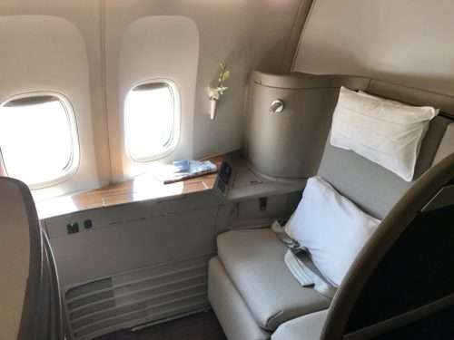 cathay pacific cx first class f