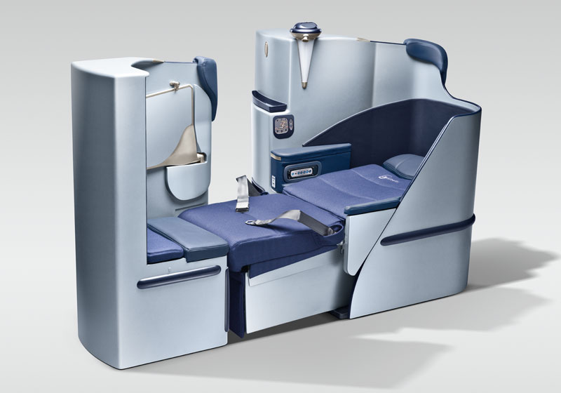 Air Berlin offers direct aisle access, lie-flat business class seats on flights across the Atlantic, not too different from seats offered by carriers like American Airlines, British Airways and Lufthansa.