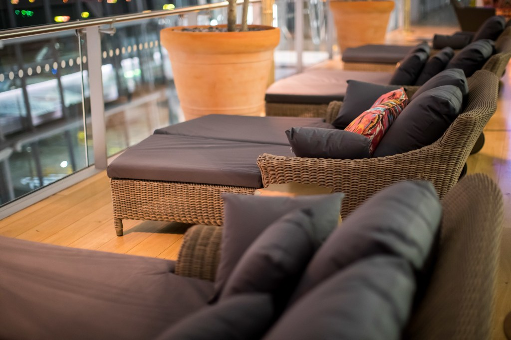 """New loungers in """"The Terrace."""" Source: British Airways"""