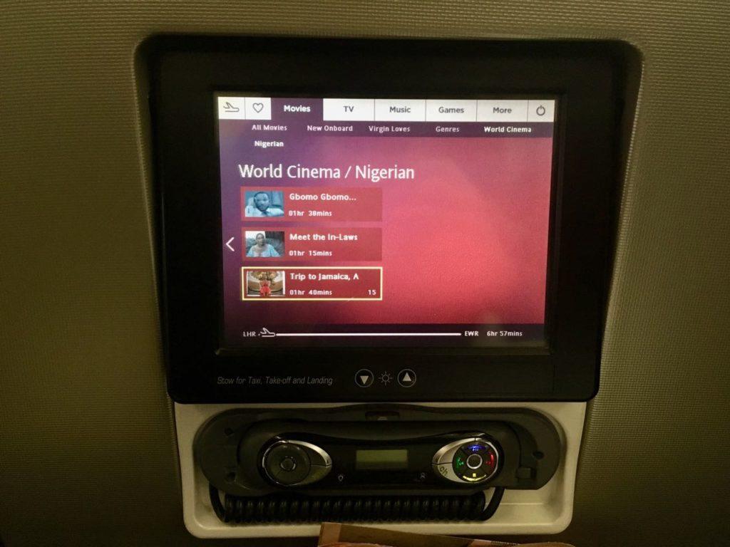 Virgin Atlantic Premium Economy entertainment Airbus A340