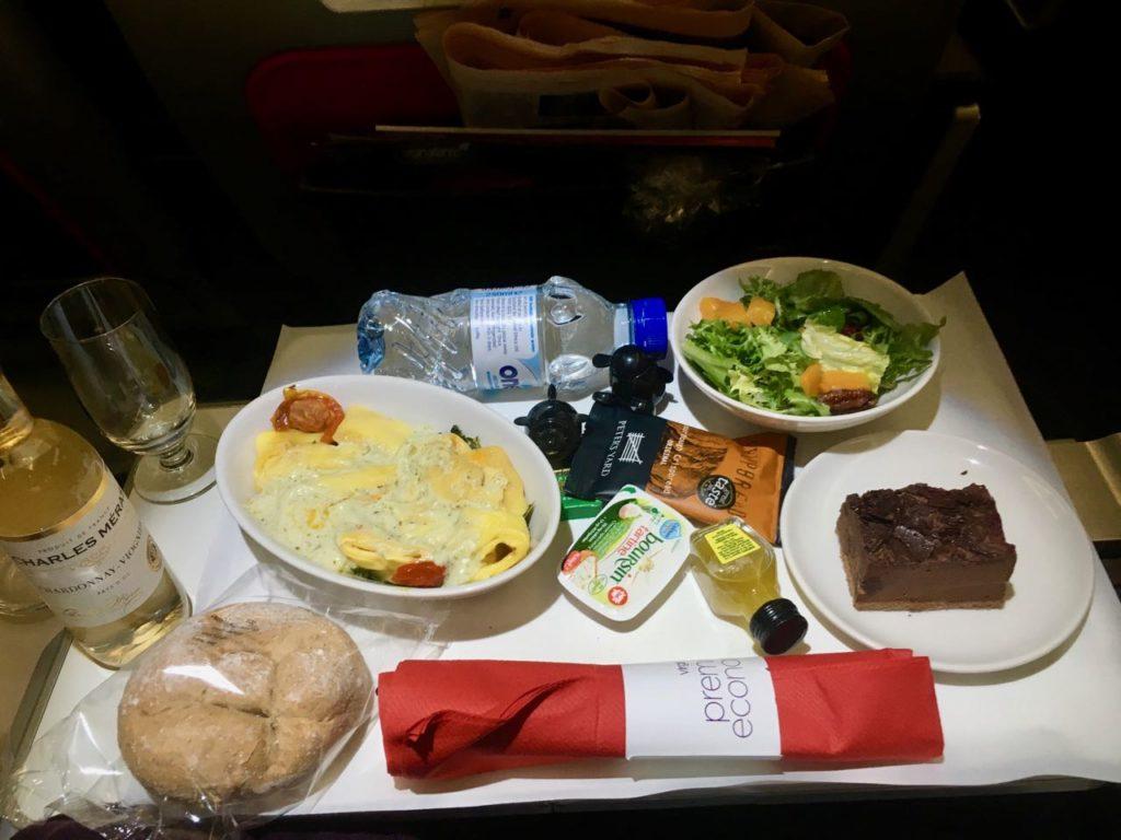 Virgin Atlantic Premium Economy Dinner