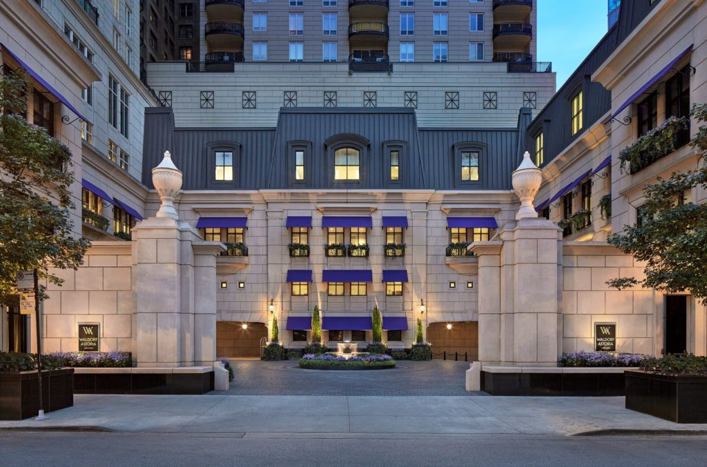 The Waldorf Astoria Chicago, one of the properties that will provide a $15 Food and Beverage credit to Gold and Diamond members in lieu of a true breakfast. Source: Waldorf Astoria Chicago