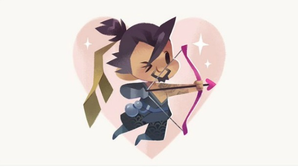 Overwatch Characters Spread The Love On Valentine's Day Through Cute Twitter Cards