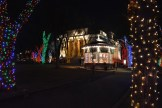 Beautiful Courthouse Square lit for Christmas