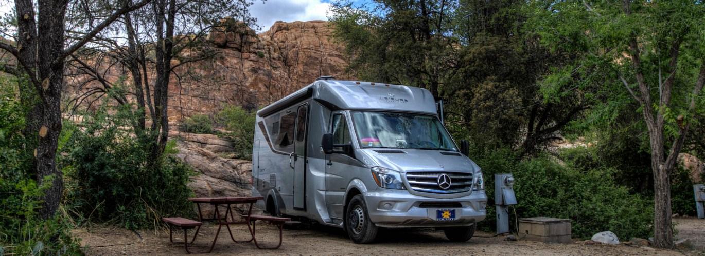 The summer camping season at Point of Rocks RV Park