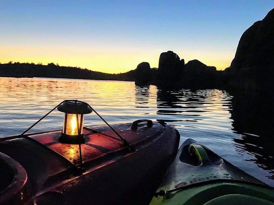 Moonlight Kayaking with Born to Be Wild Adventures