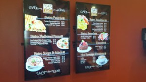 Eat American Bistro menu board