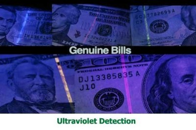ultraviolet detection money