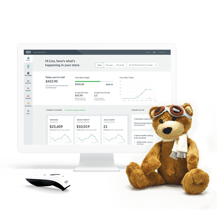 Vend reports and dashboard