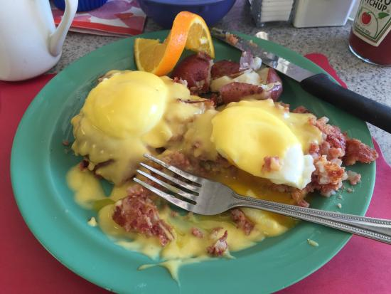 An Irish Benedict at the Jukebox Diner in Pompano Beach
