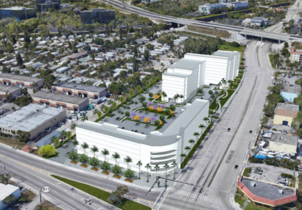 Pompano Beach Dixie Highway Development: Junkyard To Become Large Residential, Retail Project on SW corner of West McNab Road and South Dixie Highway. Aviara East