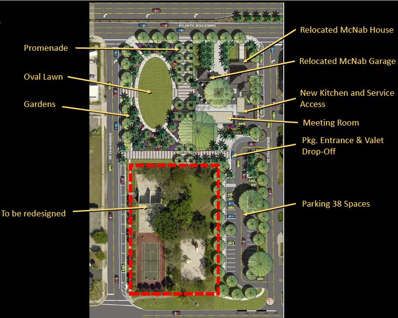 Pompano Beach McNab Park Plans; McNab House Restaurant