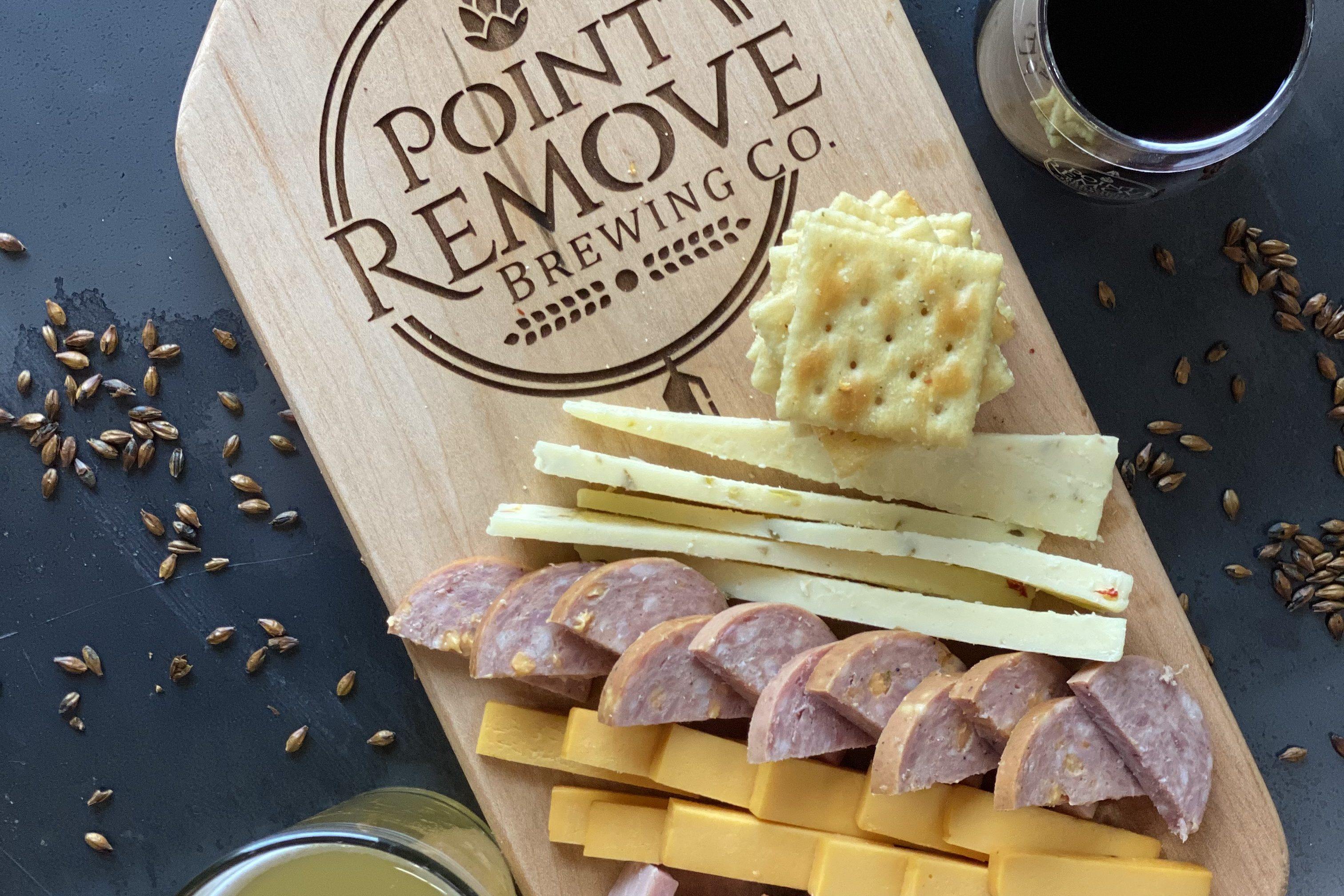 Point Remove Beer and Wine with Petit Jean Meats and Cheese