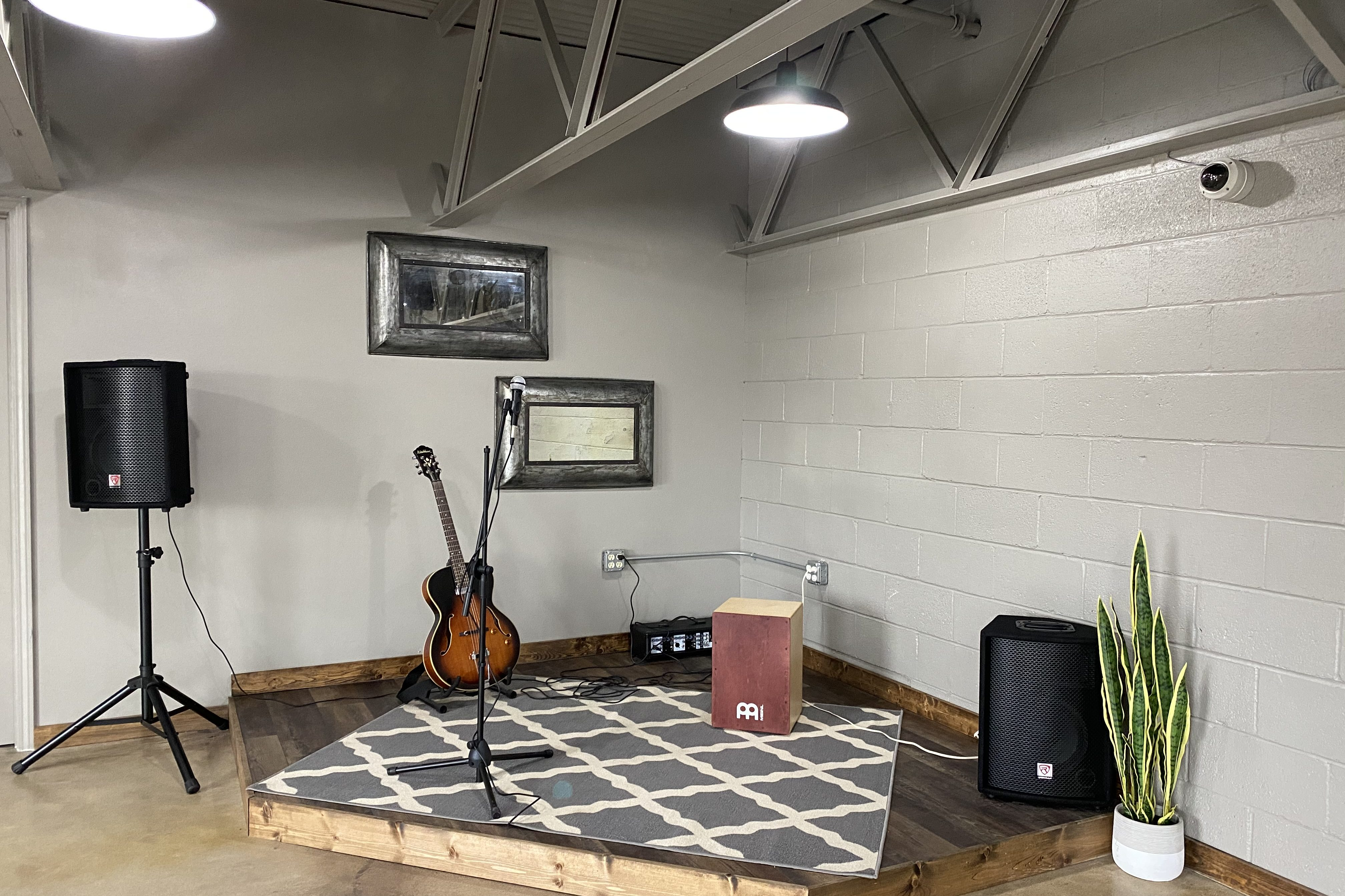 Private Event Room Live Music Stage at Point Remove Brewing