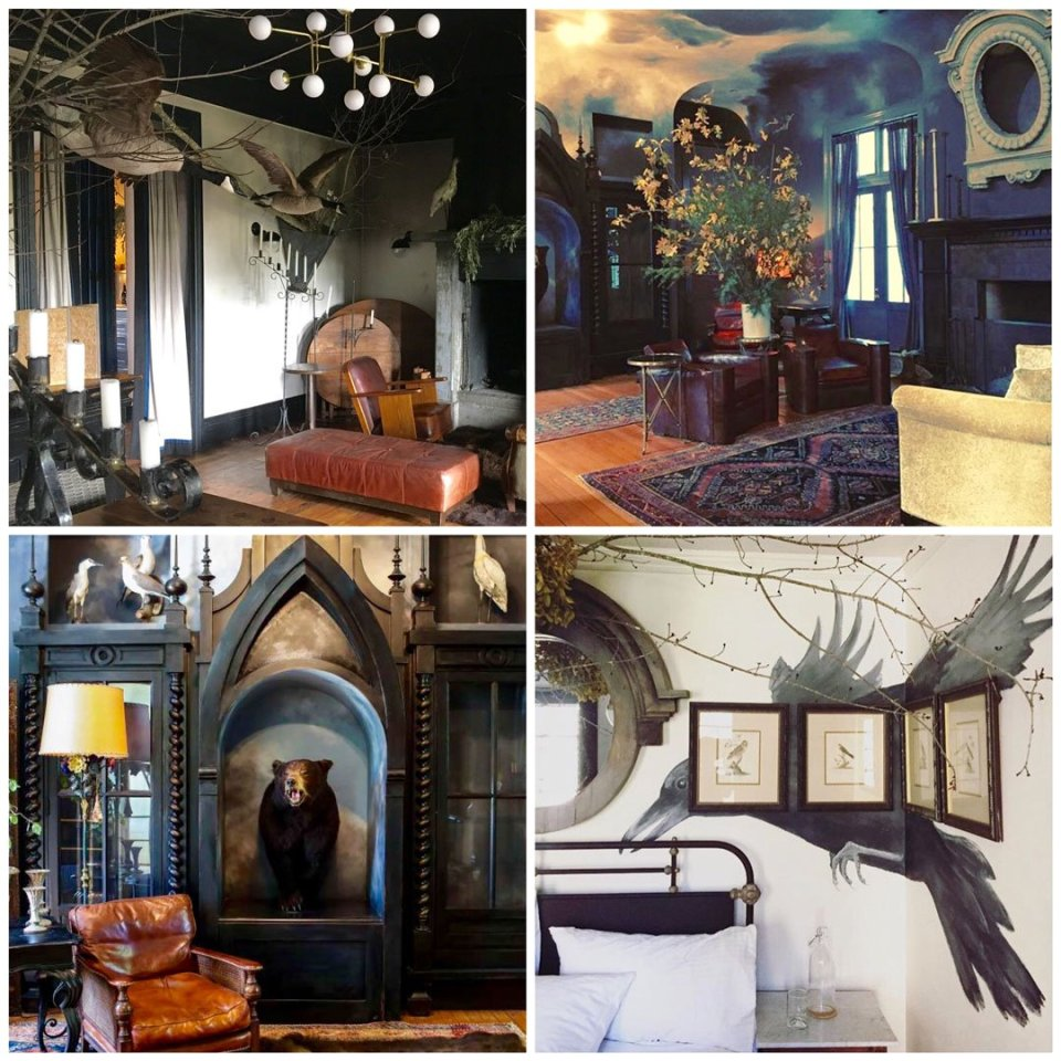 The artful stylings at Sir and Star and Druids Hall in Olema