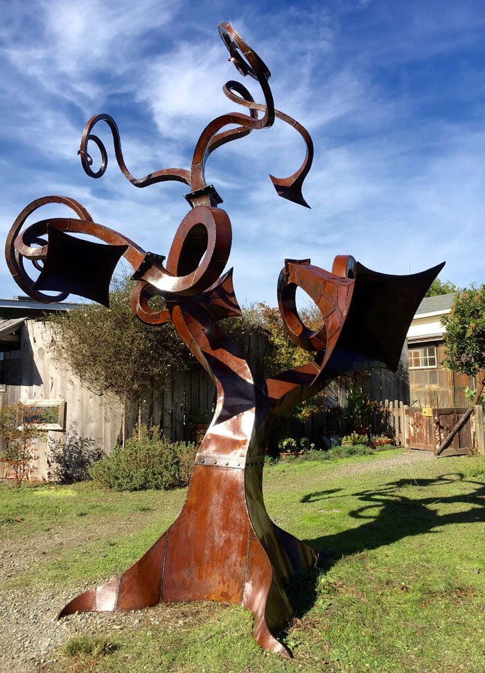 """""""Olema Tree"""" by Diego Harris, at Olema Cottages"""