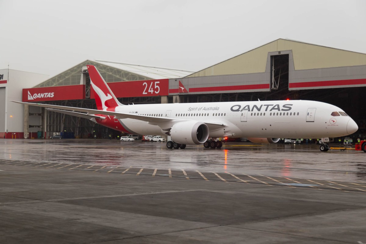 Qantas' First 787-9 Arrives In Australia