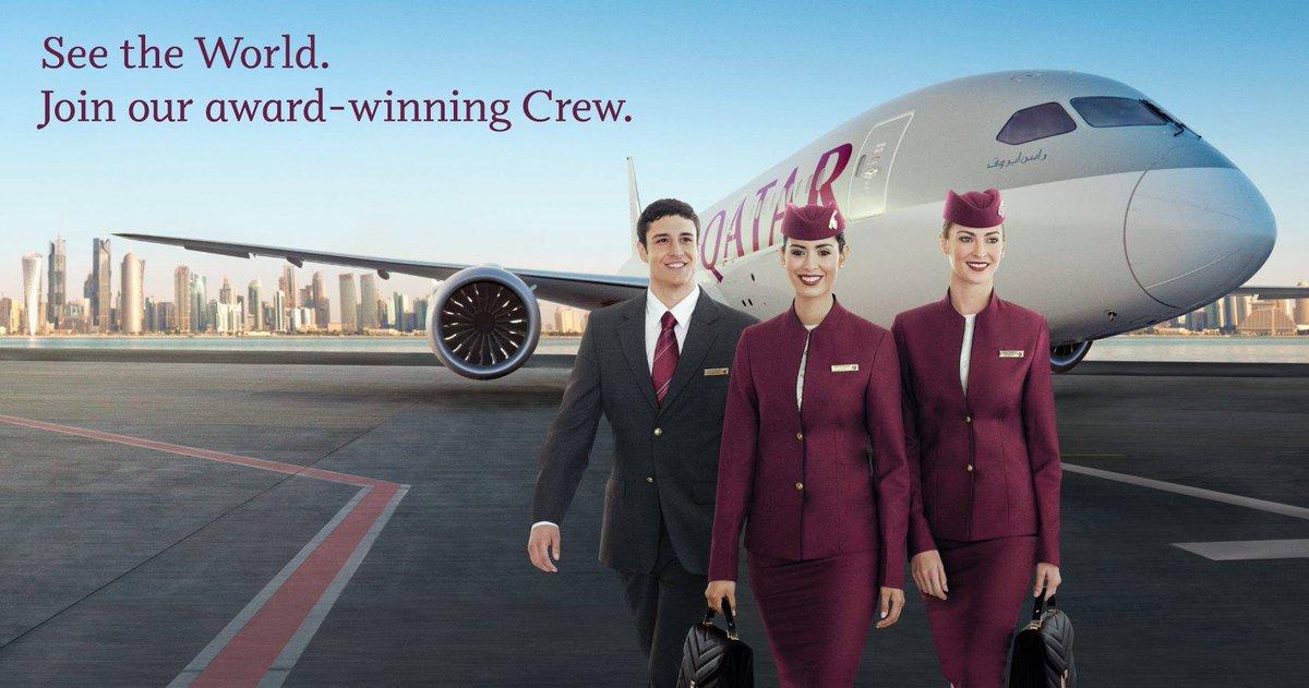 Lowongan Pekerjaan Jadi Awak Kabin Qatar Airways