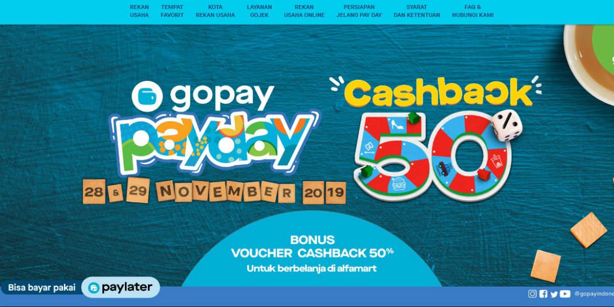 GoPay PayDay Cashback 50% (28-29 November 2019)