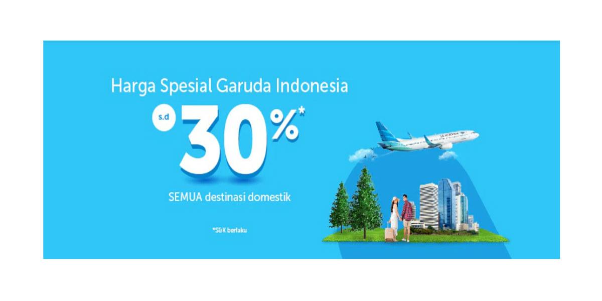 Diskon 30 Tiket Garuda Indonesia Di Traveloka Points Geek