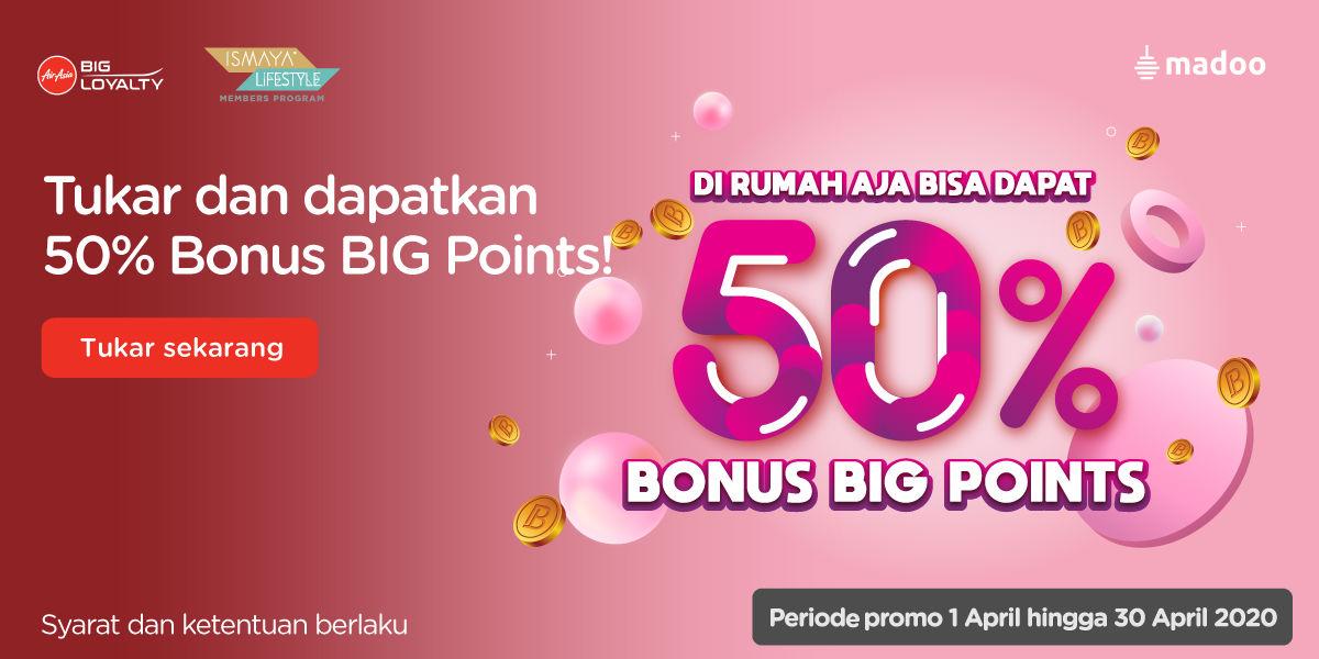 Tukar Poin Ismaya Jadi BIG Points di Madoo Bonus 50%