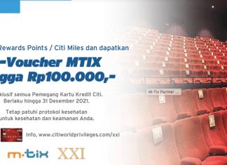Bioskop XXI MTIX kartu kredit Citi