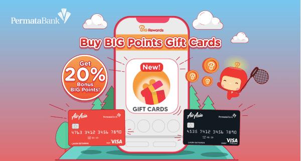 BIG Points Gift Card bonus poin Juni 2021